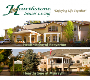 Hearthstone Senior Living in Beaverton and Murrayhill Oregon