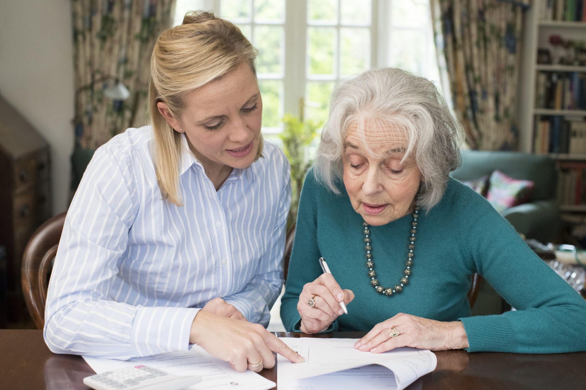 Mom Helping Senior
